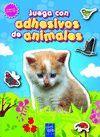 JUEGA CON ADHESIVOS DE ANIMALES 2 (AZUL)