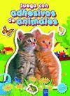 JUEGA CON ADHESIVOS DE ANIMALES 4 (AMARILLO)