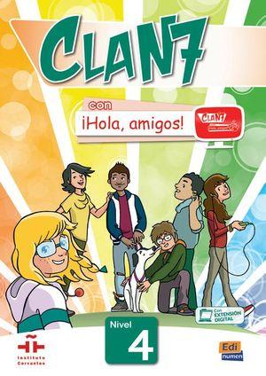CLAN 7 ¡HOLA AMIGOS! 4 LIBRO DEL ALUMNO+CD ROM